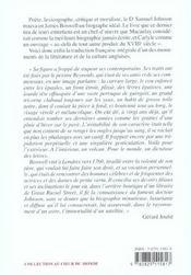 Vie de Samuel Johnson - 4ème de couverture - Format classique