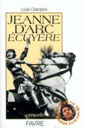 Jeanne d arc ecuyere - Couverture - Format classique