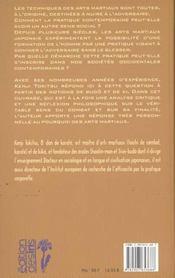 Budo. Le Ki Et Le Sens Du Combat - 4ème de couverture - Format classique