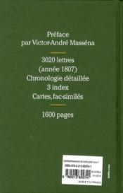 Correspondance générale t.7 ; Tilsit, l'apogée de l'empire, 1807 - 4ème de couverture - Format classique