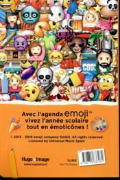 Agenda scolaire ; emoji (édition 2018/2019) - 4ème de couverture - Format classique