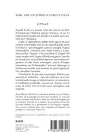 Voyager - 4ème de couverture - Format classique