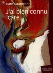 J'ai bien connu icare (anc ed) - - evasion garantie, roman, senior des 11/12ans - Couverture - Format classique