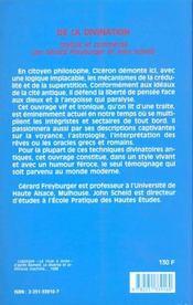 De la divination - 4ème de couverture - Format classique
