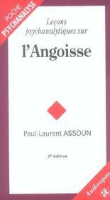 Lecons Psychanalytiques Sur L'Angoisse - Intérieur - Format classique