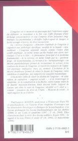 Lecons Psychanalytiques Sur L'Angoisse - 4ème de couverture - Format classique