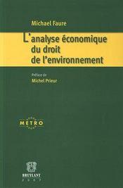 L'analyse économique du droit de l'environnement - Intérieur - Format classique