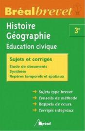 Histoire-geographie-education civique 3eme - Couverture - Format classique