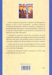 Hildegarde de bingen : la medecine au quotidien - 4ème de couverture - Format classique