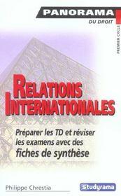 Relations internationales - Intérieur - Format classique
