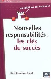 Nouvelles responsabilites, les cles du succes - Intérieur - Format classique