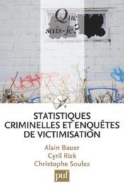 Statistiques criminelles et enquête de victimisation - Couverture - Format classique