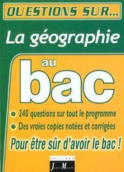 La geographie au bac - Intérieur - Format classique