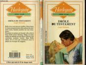 Drole De Testament - O'Hara Legacy - Couverture - Format classique
