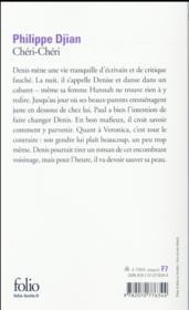 Chéri-chéri - 4ème de couverture - Format classique