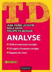 TD ; analyse (6e édition) - Couverture - Format classique