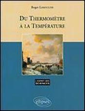 Du Thermometre A La Temperature No34 - Couverture - Format classique