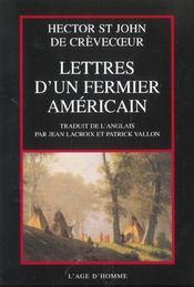 Lettres D'Un Fermier Americain - Intérieur - Format classique