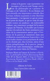 Au-Dela De La Guerre - 4ème de couverture - Format classique