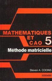 Math et cao 5 - Couverture - Format classique