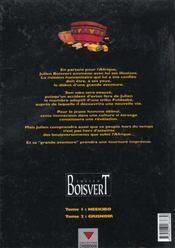 Julien boisvert t.1 ; neekibo - 4ème de couverture - Format classique