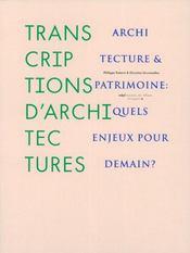 Transcriptions d'architectures - architecture et patrimoine - Intérieur - Format classique