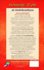 Nombre D'Or Et Mathematique - 4ème de couverture - Format classique