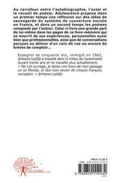 Adulescence - 4ème de couverture - Format classique