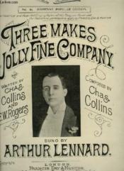 Three Makes Jolly Fine Company - Piano. - Couverture - Format classique