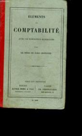 Elements De Comptabilite Avec De Nombreux Exercices. - Couverture - Format classique