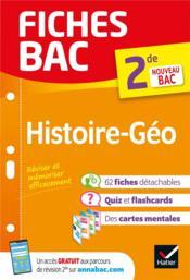 FICHES BAC ; histoire-géographie ; 2de - Couverture - Format classique