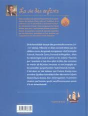 Vie D'Un Mousse Au Temps Des Caravelles (La) - 4ème de couverture - Format classique