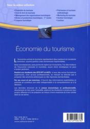 Économie du tourisme ; BTS et formations supérieures en tourisme ; 1re. et 2e. années - 4ème de couverture - Format classique