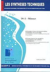 Réseau (les synthèses techniques du service national d'information sur d'eau) - Intérieur - Format classique
