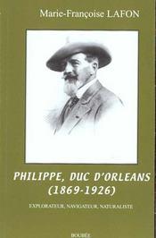 Philippe duc d'orleans 1869-1926 ; explorateur navigateur naturaliste - Intérieur - Format classique