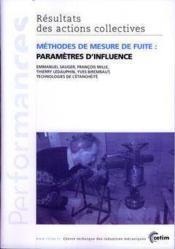 Methodes de mesure de fuite parametresd'influence performances resultats desactions collectives 9p34 - Couverture - Format classique