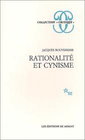 Rationalité et cynisme - Couverture - Format classique
