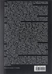 Temps de la mort tome 2 (le) - 4ème de couverture - Format classique