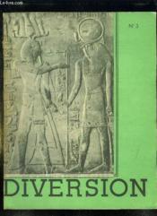 Diversion N° 3. L Esprit D Egypte. - Couverture - Format classique