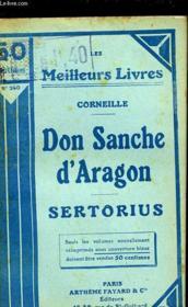 Don Sanche D'Aragon - Sertorius - Couverture - Format classique