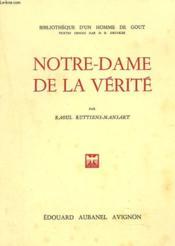 Notre-Dame De La Verite - Couverture - Format classique