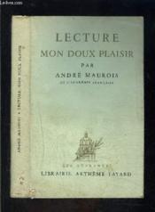 Lecture Mon Doux Plaisir - Couverture - Format classique