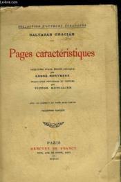 Pages Caracteristiques - Collection D'Auteurs Etrangers. - Couverture - Format classique