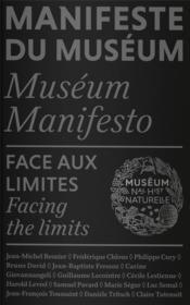 Manifeste du muséum ; face aux limites - Couverture - Format classique