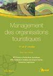 Management des organisations du tourisme - Couverture - Format classique