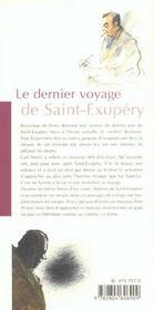 Le Dernier Voyage De Saint-Exupery - 4ème de couverture - Format classique