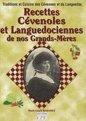 Recettes cévenoles et languedociennes de nos grands-mères - Couverture - Format classique