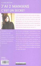 J'Ai 2 Mamans - 4ème de couverture - Format classique