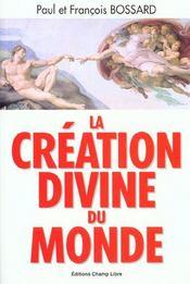 Creation divine du monde - Intérieur - Format classique
