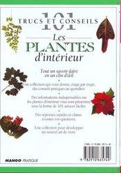 Plantes d'intèrieur - 4ème de couverture - Format classique
